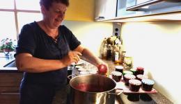 Seit vielen Jahren stellt Doris leckerste Marmelade aus selbst gesammelten Früchten, teils vom eigenen Garten her. Manchmal geben auch Freundinenn und Freunde aus der Umgebung Früchte bei Doris ab ;-)