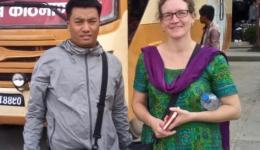 Bei der Ankunft in Kathmandu - Mingmar und Katrin