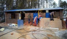 The metalworking workshop in Nepal is progressing rapidly.