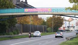Werbebanner in Bamberg - Das Banner ist eine Spende der Kopierkiste und Dank Schirmherrschaft von OB Andreas Starke auch kostenfrei aufgehängt