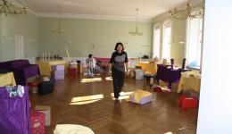 Aufbau im grünen Saal