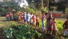 A few years ago, FriendCircle WorldHelp drilled a well in the village of Radha Krishna, which now offers the possibility of gardening.