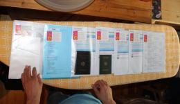 Booking flights, applying for visa, etc.