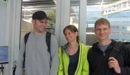 Florian, Alexandra and Jürgen in Nuremberg shortly before check-in.