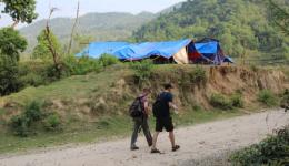 Everywhere tents have been pitched as shelter. People are very afraid of further earthquakes.
