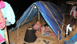 The children are sleeping on the bare earth. Therefore, the next day FriendCircle Worldhelp buys thick thermal mats- two meters by two meters.