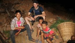 Some of the children speak a bit English.  They ask Florian where we come from.