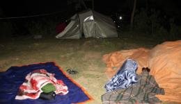 Our camp at night.