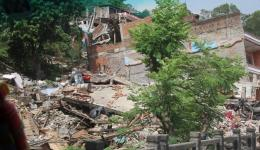 In this region the 2nd quake raged, leaving huge destruction.