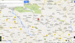 Map of the current location, near the Indian border with Nepal.