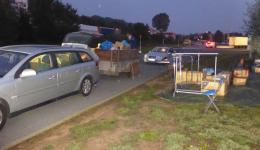 Car and trailer are fully loaded