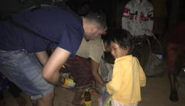 Distribution of the last food packages after dark.