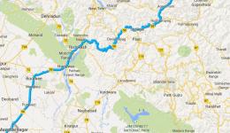 Kartenausschnitt - Guptakashi im Bundesstaat Uttarakhand