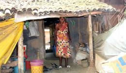 Die Leprabetroffenen waren für ihr Wasser auf die Hilfe ihrer gesunden Nachkommen angewiesen.
