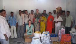 Die gekauften Schätze für die Leprakolonie Ambala