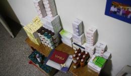 19.02.   Medikamente für das Leprahospital, welches der Freundeskreis Indienhilfe gespendet hat...
