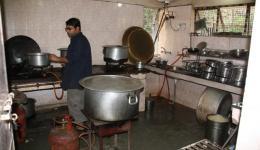 Die Küche von der Blindenschule.