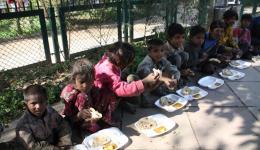 Ein warmes Essen mit Chapatis