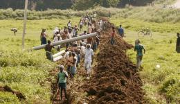 09. bis 15. Juli - Bilderserie vom Bau der Wasserleitung