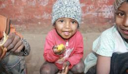 Der dankbare Blick eines Kindes.