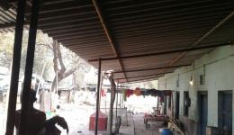 Roofs as protection during the rainy season.