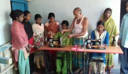 The tailor teaches the girls to make clothes. Accessories and machines are financed by FriendCircle WorldHelp.