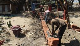 Construction of an overground sewer system in Bhairoganj to improve the hygiene in the village.