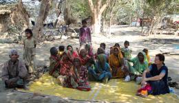In the leprosy village Bhairogani, Bihar