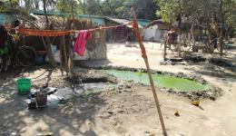 During the rainy season, devastating diseases are likely to spread due to the unclean conditions.