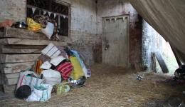 Schlafstelle für die Arbeiter einer Ziegelei.