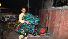 Negi aus dem Himalaya ist ebenfalls zur Unterstützung angereist.