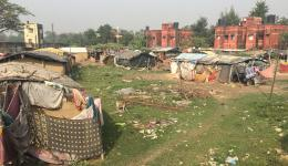 A leprosy village in North-East India, in the state of Bihar