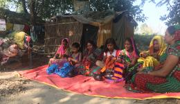 The new friends help friends knitting project in the leprosy village Bhairoganj.