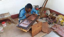 25 year old Subash teaches the other men the craftwork.