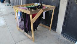 Necessity is the mother of invention - here a home-made drying reack.