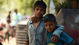 Impressions of the soup kitchen for street children and needy persons in Delhi ...