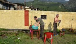 Wäschewaschen...