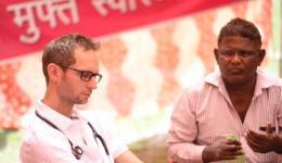 Our translator and co-organizer Venu.