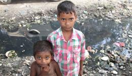 Healthy children of a leprosy village.