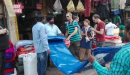 Purchasing items in Delhi for the Free Medical Hospital