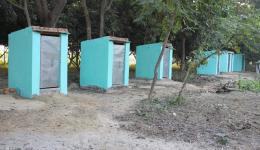 Toilet house in the hinterland of Motihari, Bihar, built by FriendCircle WorldHelp.