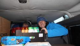 Razvan and Gregor ensuring supply for the distribution.
