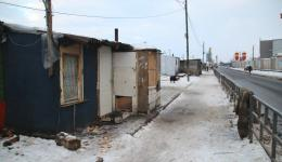 Jan. 5, 2015 - Cluj, Romania. Visit to a settlement.