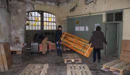 Preparations for the first packing action on Dec. 14, 2014.