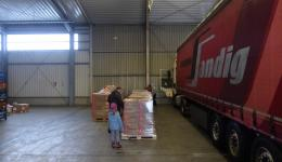 Dec. 29, 2014 - customs clearance in Bamberg, loading and departure of the truck: All pallets are ready for loading at the premises of the company Schenker in Bamberg.
