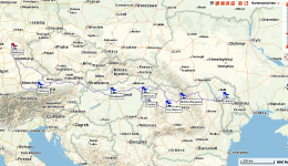 Review: Overview map for exploratory trip in June 2014. Route from Bamberg to Calarasi.