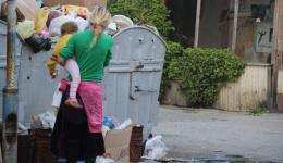 When there is not enough food, many people have to resort to seeking food in waste containers.
