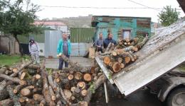We purchase two trucks with firewood which is delivered right to the door.