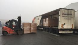 29th December 2015, Bamberg loading of the thirty pallets at the Company DB SCHENKER