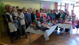 May 14, 2016 - Kronach: Lecture held to the knitting ladies.